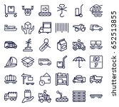 delivery icons set. set of 36... | Shutterstock .eps vector #652513855