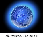 conceptual mapped with... | Shutterstock . vector #6525154