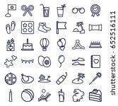 Holiday Icons Set. Set Of 36...