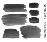 set of watercolor black and... | Shutterstock . vector #652520215
