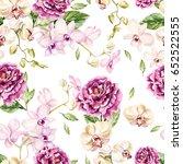 beautiful watercolor pattern... | Shutterstock . vector #652522555