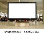 big horizontal blank white... | Shutterstock . vector #652523161
