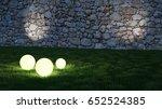 glowing spheres in garden with... | Shutterstock . vector #652524385
