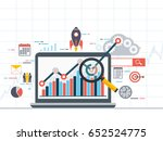 web analytics information and... | Shutterstock .eps vector #652524775