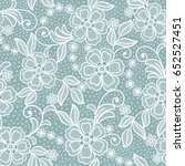 seamless  abstract lace floral  ... | Shutterstock .eps vector #652527451