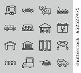 car icons set. set of 16 car... | Shutterstock .eps vector #652527475