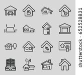 real icons set. set of 16 real... | Shutterstock .eps vector #652528831