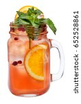 fresh refreshing drink with ice ... | Shutterstock . vector #652528861