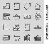 store icons set. set of 16... | Shutterstock .eps vector #652530085