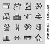 construction icons set. set of... | Shutterstock .eps vector #652530205
