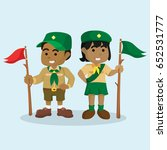 african boy scout and african... | Shutterstock .eps vector #652531777