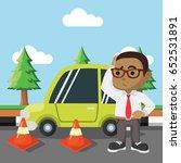 african businessman got car... | Shutterstock .eps vector #652531891