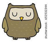 cartoon owl | Shutterstock .eps vector #652532344