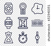 clock icons set. set of 9 clock ... | Shutterstock .eps vector #652540351