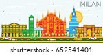 milan skyline with color... | Shutterstock . vector #652541401