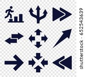forward icons set. set of 9...