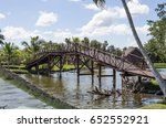 wooden bridge | Shutterstock . vector #652552921
