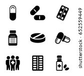 cure icons set. set of 9 cure... | Shutterstock .eps vector #652559449