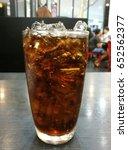 black color soft drink on a... | Shutterstock . vector #652562377