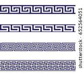 greek key seamless border... | Shutterstock .eps vector #652564051