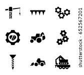 machinery icons set. set of 9... | Shutterstock .eps vector #652567201