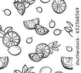 vector seamless pattern with... | Shutterstock .eps vector #652568569