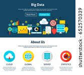 big data website design. flat... | Shutterstock .eps vector #652570339