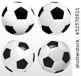 football isolated vector on... | Shutterstock .eps vector #652570921