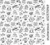 seamless vector pattern... | Shutterstock .eps vector #652570969