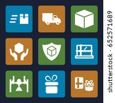 parcel icons set. set of 9... | Shutterstock .eps vector #652571689