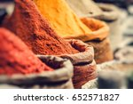 traditional spices market in... | Shutterstock . vector #652571827