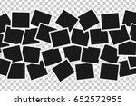 collage of realistic frames... | Shutterstock .eps vector #652572955