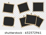 set of square old vintage... | Shutterstock .eps vector #652572961