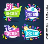 vector collection of bright... | Shutterstock .eps vector #652576369