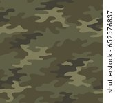 seamless camouflage pattern.... | Shutterstock .eps vector #652576837