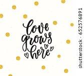 trendy hand lettering poster.... | Shutterstock .eps vector #652576891