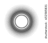 circle with dots for design... | Shutterstock .eps vector #652585831