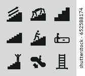 stair icons set. set of 9 stair ... | Shutterstock .eps vector #652588174
