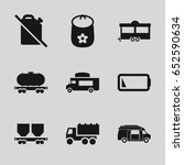 car icons set. set of 9 car... | Shutterstock .eps vector #652590634
