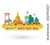 flat design  south east asia's... | Shutterstock .eps vector #652593337