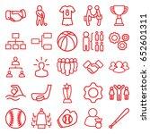 team icons set. set of 25 team... | Shutterstock .eps vector #652601311