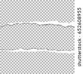 realistic vector torn paper ... | Shutterstock .eps vector #652608955