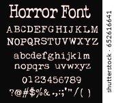 retro typewriter font   red... | Shutterstock .eps vector #652616641