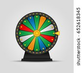 wheel of fortune icon. vector... | Shutterstock .eps vector #652618345