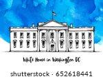white house in washington dc ... | Shutterstock . vector #652618441