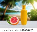 shampoo bottle template on the... | Shutterstock . vector #652618495