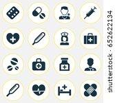 antibiotic icons set.... | Shutterstock .eps vector #652622134