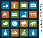 soap icons set. set of 16 soap... | Shutterstock .eps vector #652622329