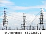 telecom network in front  white ...   Shutterstock . vector #652626571
