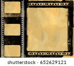 grunge frame or distressed... | Shutterstock .eps vector #652629121